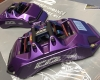 D2 6 Pot Calipers in Purple