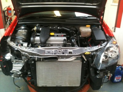 Astra VXR Race Car Engine Bay