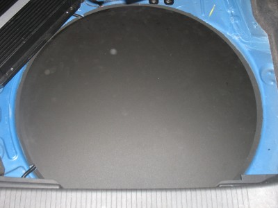 Laser Cut Acrylic Spare Wheel Well Cover
