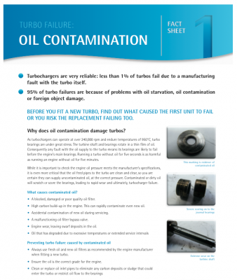 Oil Contamination Fact Sheet
