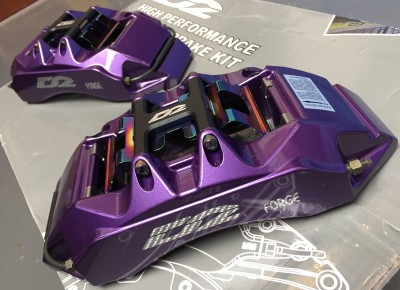 D2 6 Pot Caliper in Purple