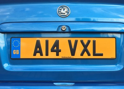 Rear Pressed Steel Number Plate
