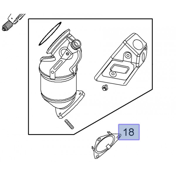 Gasket Front Exhaust Pipe to Pre-Catalyst Z16LEx