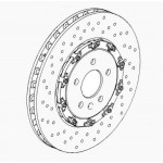 Brake Disc Set Front Genuine 355mm x 32 - Astra J VXR