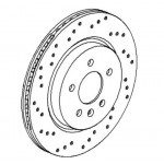 Brake Disc Set Rear Genuine 314mm - Astra J VXR