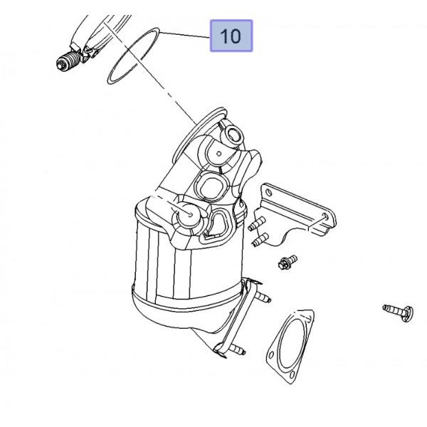 Gasket Pre-Catalyst to Turbocharger - Z16LEx A16LEx B16LEx