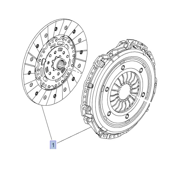 Clutch OE: Cover and Disc - Astra J VXR