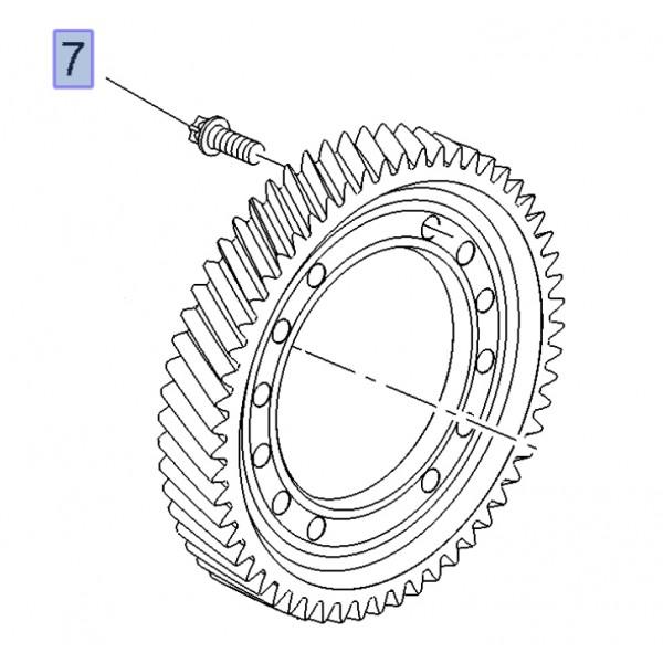 M32 Crownwheel Bolt