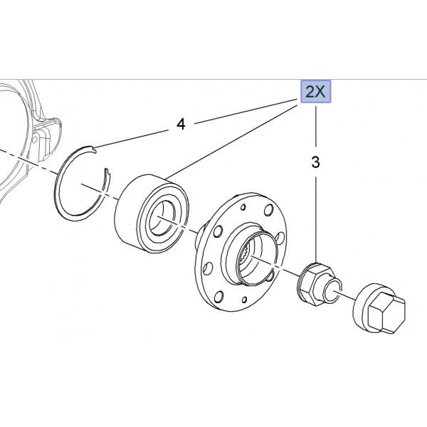 Genuine Front Wheel Bearing Corsa D / E / Adam VXR