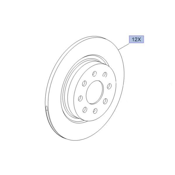 Brake Disc Set Rear OE 264mm - Corsa E inc VXR