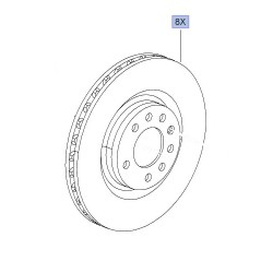 Brake Disc Set Front Genuine 305mm x 28 - Corsa D VXR Nurburgring