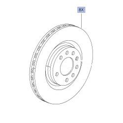 Brake Disc Set Front Genuine 305mm x 28 - Corsa D VXR Nurburgring