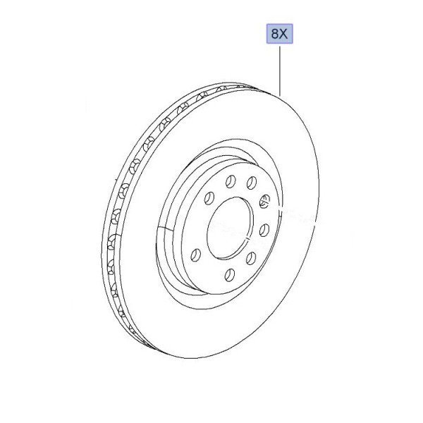 305mm Brake Disc (8 Groove Option Available)