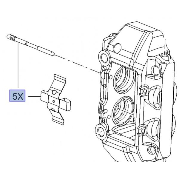 Brembo Caliper Brake Pad Retaining Kit