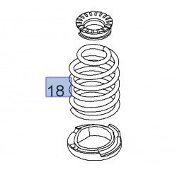 Rear Spring Set Genuine - Corsa D Nurburgring