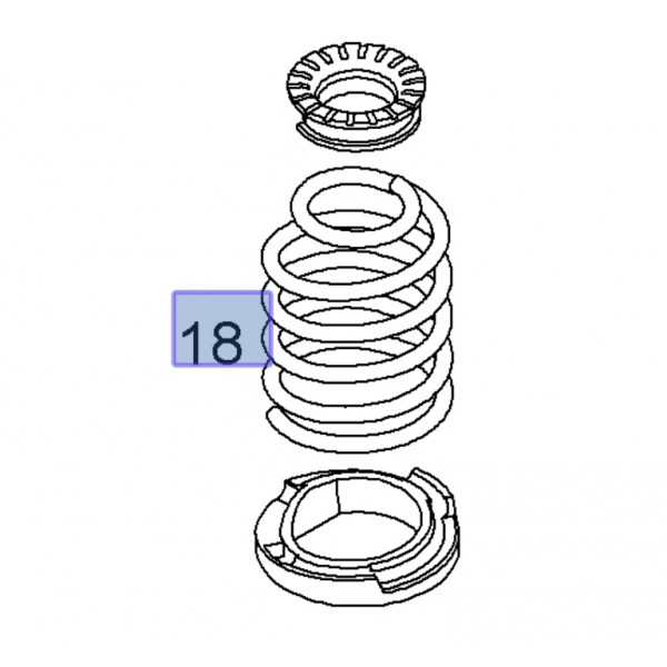 Genuine Corsa D Nurburgring Rear Springs