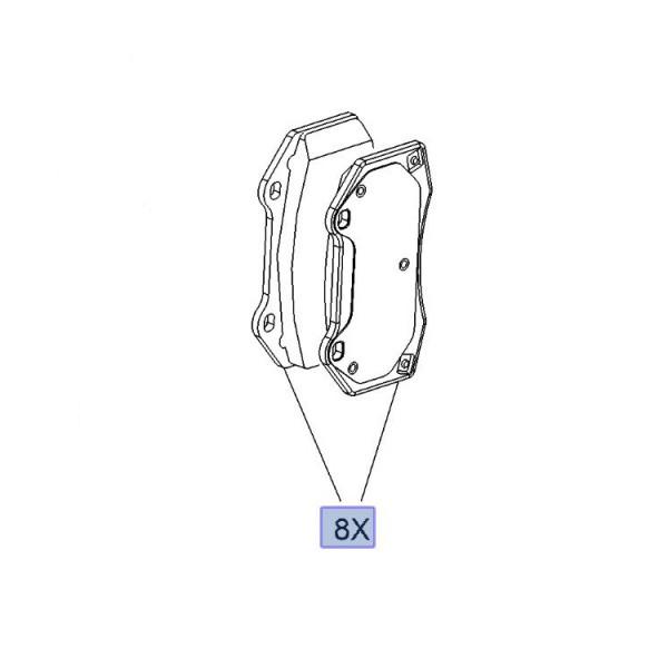 Brake Pad Set Front Brembo OE HP1000 VXR 4 Pot - Corsa D / Corsa E