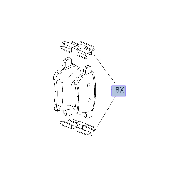 Brake Pad Set Rear OE - Corsa E / Adam