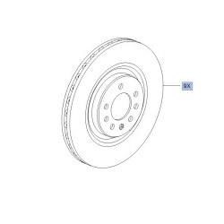 Brake Disc Set Front Genuine 330mm x 28mm - Corsa D / Corsa E