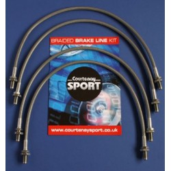 Braided Brake Hoses - VX220 Set of 4