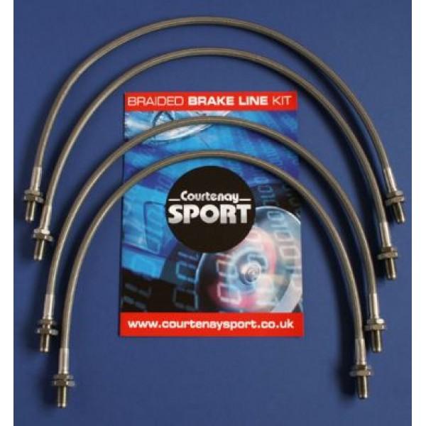 Braided Brake Hoses - VX220 Set of 4