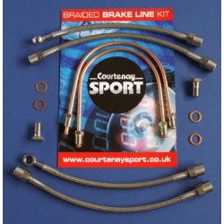 Braided Brake Line Hoses Rear - Astra G / Zafira A