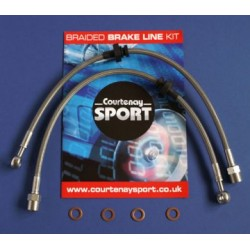 Braided Brake Line Hoses Front - Astra G / Zafira A