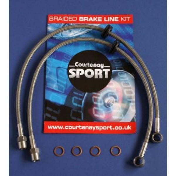Braided Brake Hoses Front - Astra H / Zafira B Non VXR