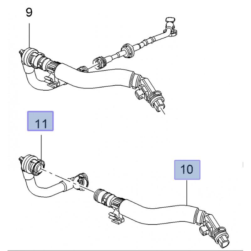 Crankcase Ventilation Breather Hose Corsa E VXR B16LES ...
