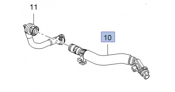 Crankcase Ventilation Breather Hose Long Corsa E VXR ...