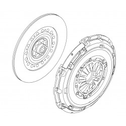 Clutch OE 240mm: Cover and Disc - Astra H CDTi Z19DTH (Late See Fitment)
