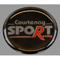 Courtenay Sport Racing Wheel Centre Domed Badge 45mm