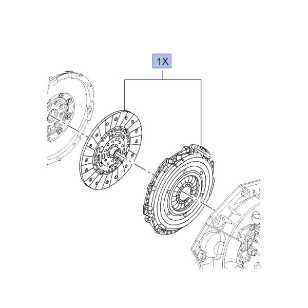 Clutch OE: Cover and Disc - Insignia 2.8T from A1000001
