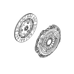 Clutch OE 215mm: Cover and Disc - Corsa D Nurburgring