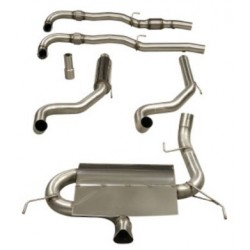 Exhaust System 76mm FULL Turbo Back Single with Sports Cat Corsa D VXR 2006-2014