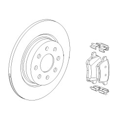 Disc and Pad Kit Rear OE 264mm - Corsa E