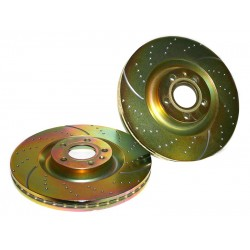 Brake Disc Set Front EBC GD Sport 302mm GOLD - Vectra C 2.0T/3.2V6/1.9CDTi/3.0CDTi