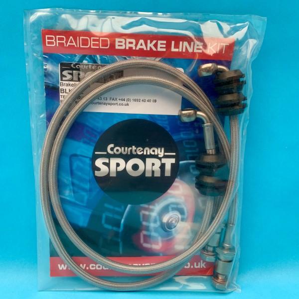 Braided Brake Hoses Front - Astra J VXR