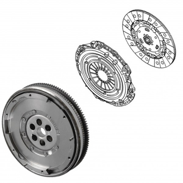 Clutch Kit Fast Road 215mm DMF, Flywheel Bolts - Meriva VXR Z16LET
