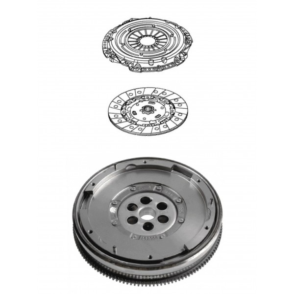 Clutch Kit 215mm Original Equipment Clutch DMF Flywheel Bolts - Corsa D 1.6T SRi / VXR Z16LEx A16LEx