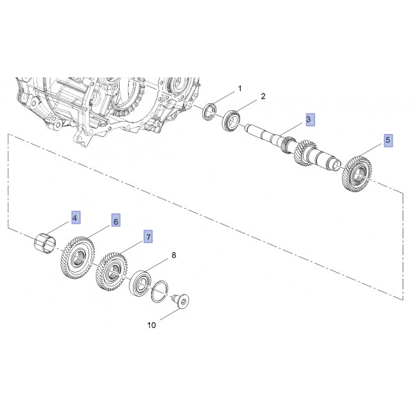 M32 Input Shaft and Associated Components