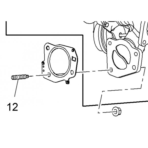 Stud M8 Exhaust / Turbo / Catalyst