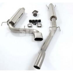 Exhaust System 76mm Cat Back Twin - Astra H VXR