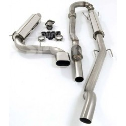 Exhaust System 76mm FULL Turbo Back Twin with Sports Cat Astra H VXR