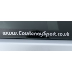 Courtenay Sport Decal - Web Address