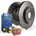 Disc and Pad Kit Rear EBC GD 264mm Yellowstuff - Corsa D 1.6 Turbo inc VXR