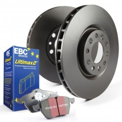Disc and Pad Kit Full Vehicle EBC - Astra H VXR