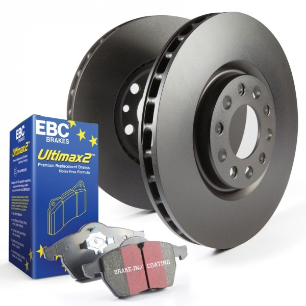 Disc and Pad Kit Full Vehicle EBC 308mm/264mm - Corsa D 1.6 Turbo